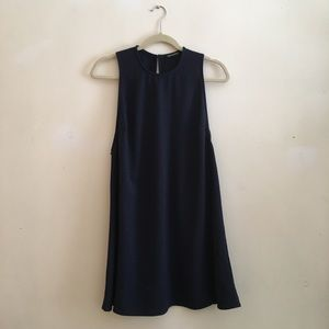 American Apparel Navy Dakota Dress, medium
